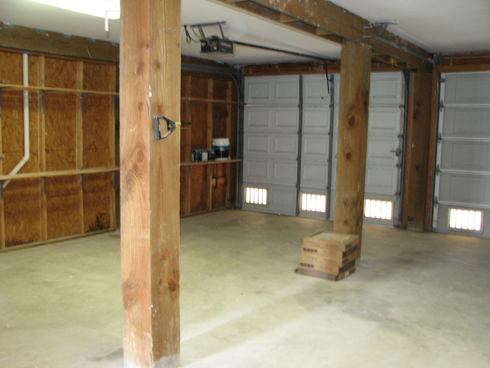 two car enclosed garage