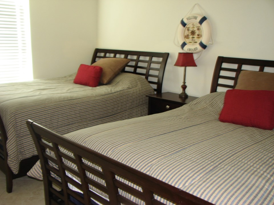 one of the bedrooms in unit a