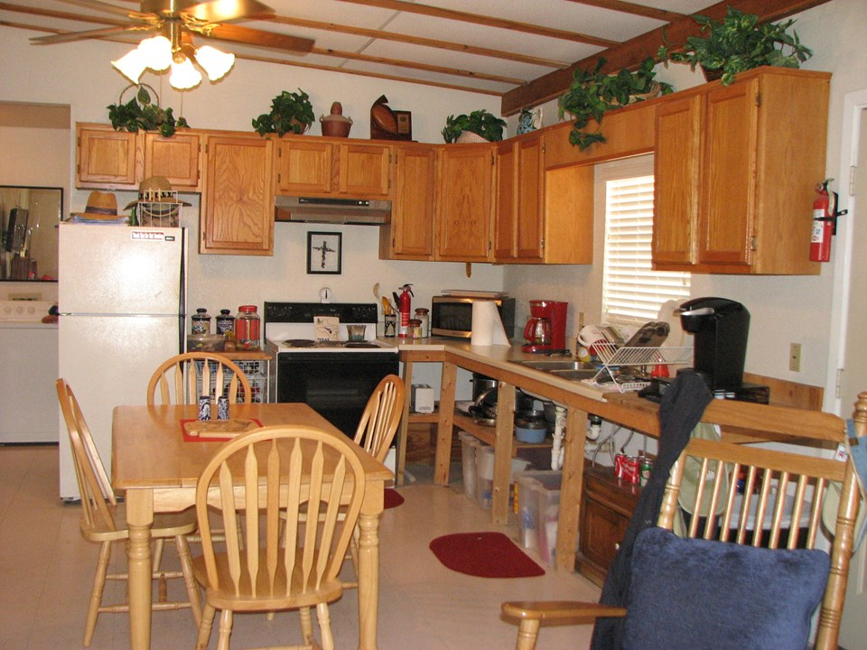 open kitchen, living area