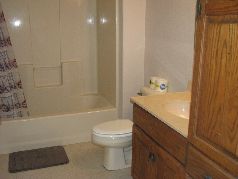 downstairs bath with tub/shower