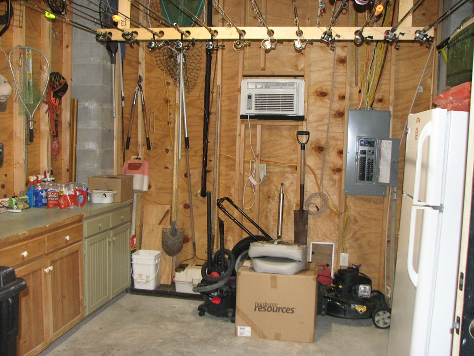 tackle/storage room with window a/c